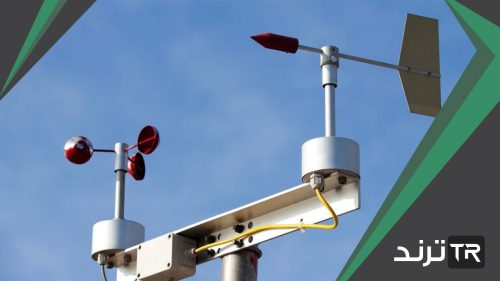 الجهاز الذي يحتوي على أكواب دوارة ويقيس سرعة الرياح يسمى