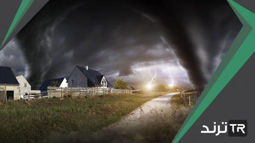 هل العاصفة الرعدية إعصار دوار