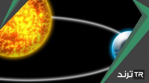 مسار منحني يدور فيه الكوكب حول الشمس