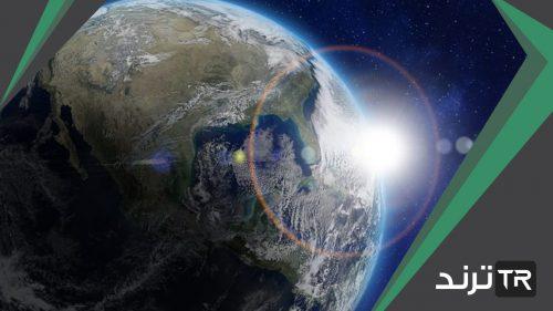 يؤثر شكل الأرض وميل محورها في اختلاف درجة الحرارة
