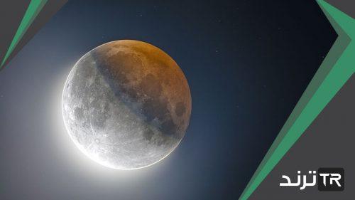 يحدث عندما تلقي الارض بظلها على القمر