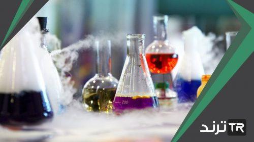 مواد تتكون نتيجة التغير الكيميائي تظهر عند الطرف الاخر من المعادلة