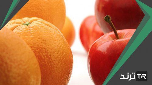 يوجد في السلة ١٥ برتقالة و٨ تفاحات فما العدد التقريبي لحبات الفاكهة التي في السلة ؟